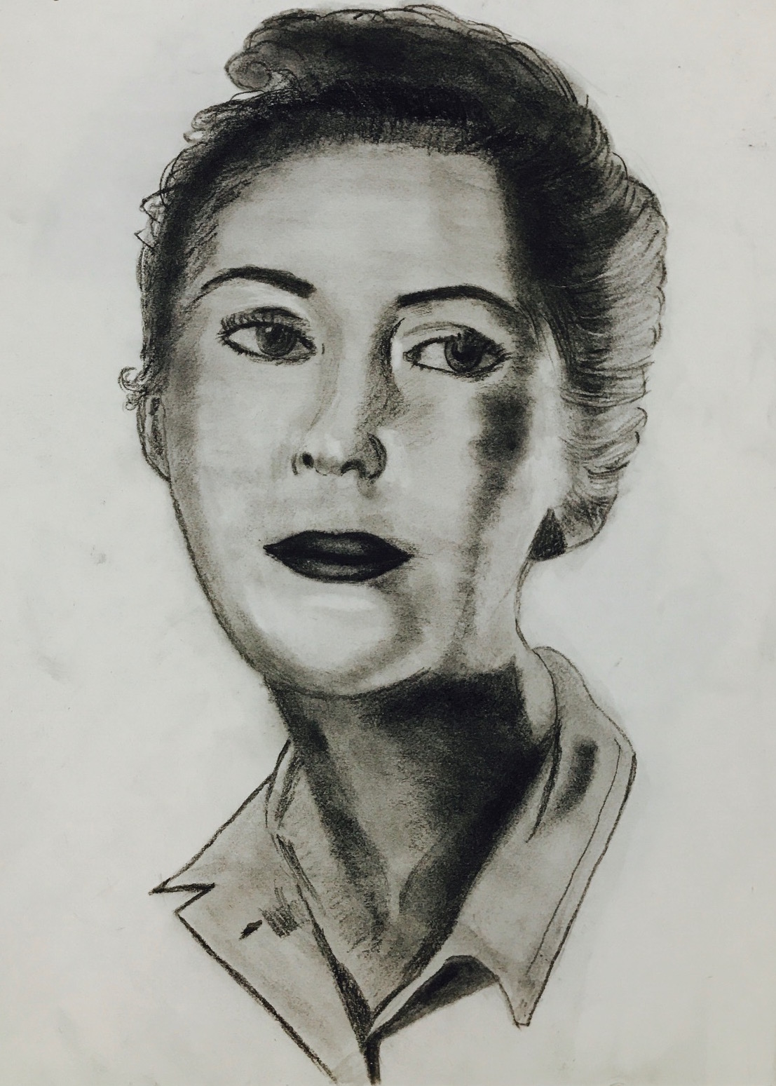 A WOMAN Charcoal Sketch art Pencil, art, charcoal, handmade, lady
