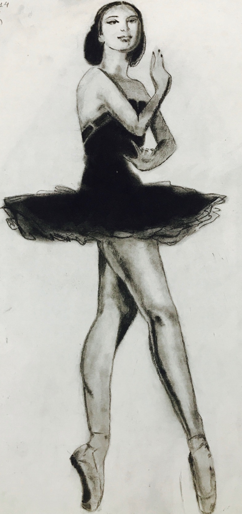 BALLET DANCER Charcoal Sketch art Pencil, art, ballet dance, charcoal, handmade, lady