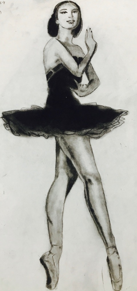 BALLET DANCER Charcoal Sketch art Pencil, art, ballet dance, charcoal, handmade, lady