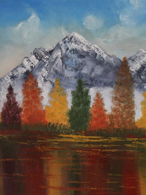 Oil painting, nature, autumn , art, autumn, colors, handmade, nature, oil on canvas